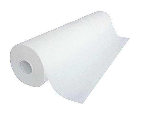 DOC RISTO Ärztekrepp, Liegenabdeckung - 2-lagig, weiß - verschiedene Größen (39x50, 50x50, 55x50, 59x50) (1 Rolle 59cm x 50m)