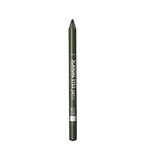 Rimmel Scandaleyes Lápiz Resistente al agua maletero, Verde, 1.3g