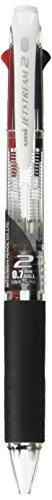 Uni Ballpoint Pen Jetstream 2 Color Black, Red Ink 0.7mm, Transparent (SXE230007.T)