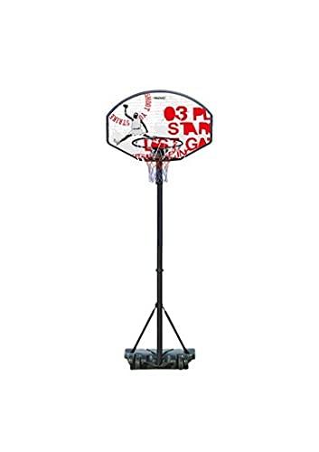 Avento Canasta de baloncesto con soporte, 140-213 cm