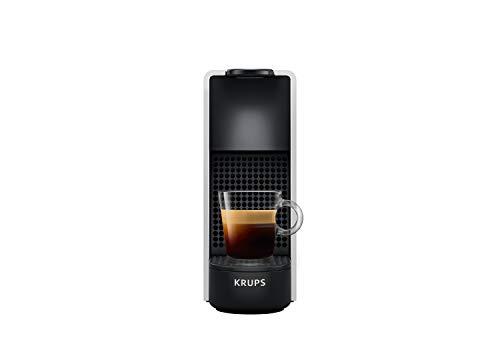 Krups Nespresso XN110E Essenza Mini kompakte Kaffee-Kapselmaschine (1260 Watt, 19 bar Pumpendruck, automatische Abschaltung) Silber