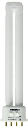Sylvania 20284 Compact Fluorescent 4 Pin Single Tube 3000K, 13-watt
