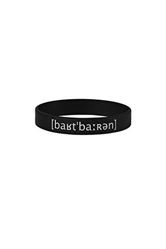 barTbaren Unisex Silikonarmband für Fitness und Freizeit – robustes Sportarmband aus 100% hypoallergenem Silikon in schwarz mit Prägdruck in weiß für Damen und Herren