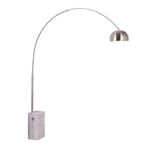 Lampes de chevet Lampe De Pêche Lampe De Plancher Salon Salle À Manger Étude Lampe De Plancher Moderne Minimaliste Bureau Créatif en Marbre Éclairage Vertical (Color : Silver, Size : 165 * 165cm)