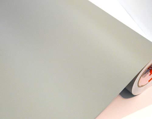 Möbelfolie Matt Schrankfolie Matte Bastelfolie Türfolie Klebefolie zum basteln folie zum bekleben von möbel mit Anleitung, Farbe: mittelgrau, Größe: L500xB63cm