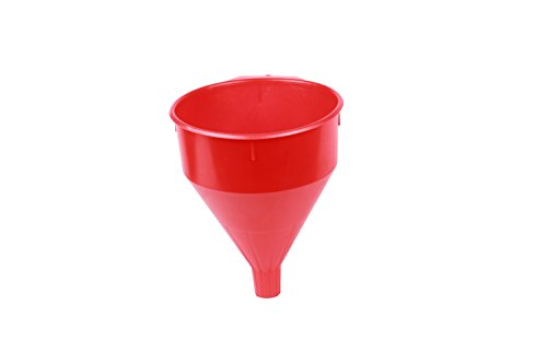 WirthCo 32006 Funnel King Red Safety Funnel with Screen - 6 Quart Capacity