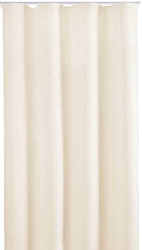 Bestlivings Blickdichte Gardine mit Kräuselband (140x245 cm/Beige), in vielen Variationen