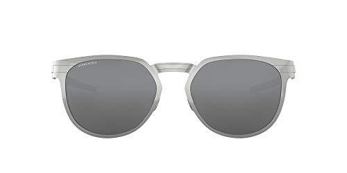 Oakley Unisex-Erwachsene 0OO4137 Sonnenbrille, Blau (Satin Chrome), 55