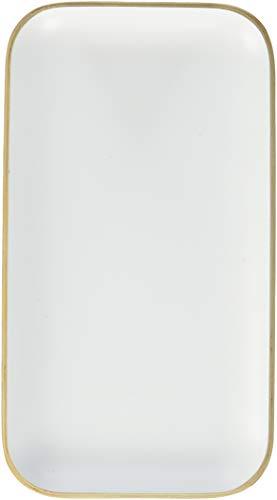 Une 'domo Pv-liv-1191 Point-Virgule rectangulaire Plateau de service Blanc 22 x 12 cm, bois, marron