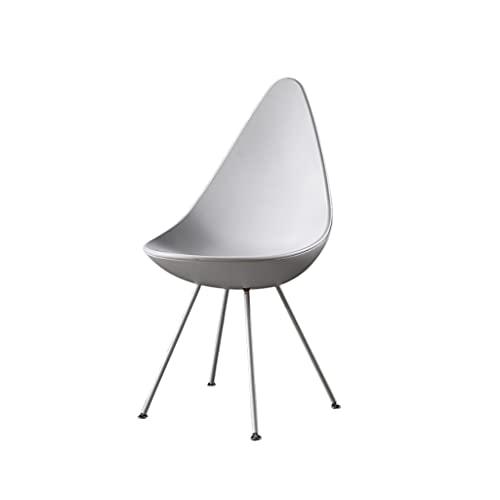 QIAOLI Respaldo para silla de comedor para sillas de comedor, cocina, silla lateral moderna de mediados de siglo con patas de acero al carbono (color: E)