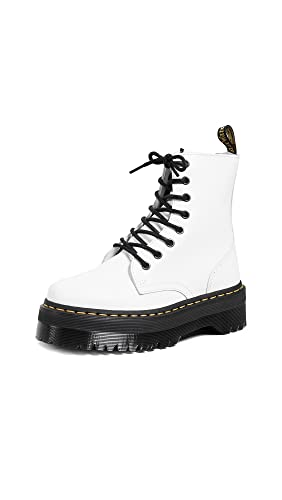 Dr. Martens Womens Jadon Leather White Boots 8.5 US