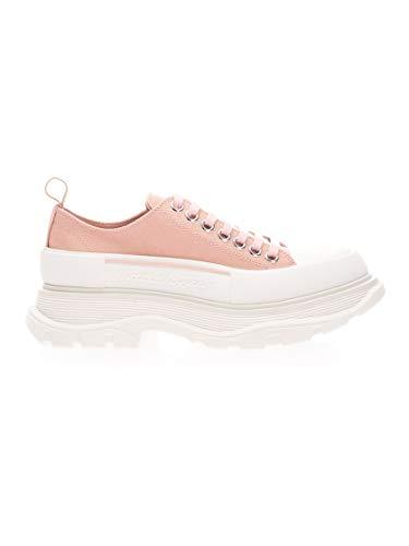 Alexander McQueen Luxury Fashion Damen 611705W4LR19243 Rosa Baumwolle Sneakers | Ss21
