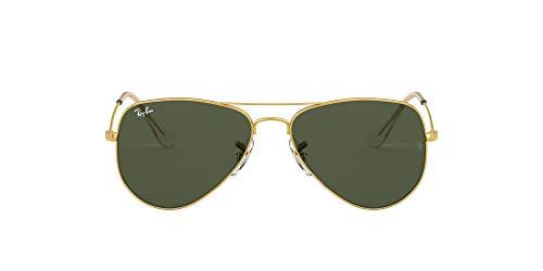 Ray-Ban RB3044 Small Metal Aviator Sunglasses, Gold/Green, 52 mm