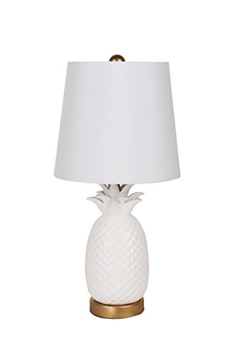 White Resin Pineapple Accent Lamp
