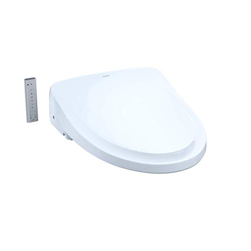 TOTO SW3044#01 S500E Electronic Bidet Toilet Cleansing, Instantaneous Water, EWATER Deodorizer, Warm Air Dryer, and Heated Seat, Elongated Classic, Cotton White