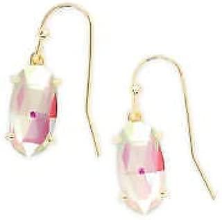 Kendra Scott Dichroic Glass Lemmi Gold Drop Accessory Earrings