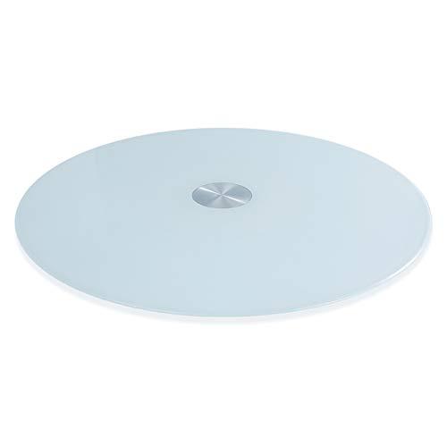 Flashing lights F platenspeler, gelakt, wit, rond, plat, Lazy Susan, geen lawaai, gemakkelijk te reinigen, dikte 10 mm, diameter 70~90 cm, optisch