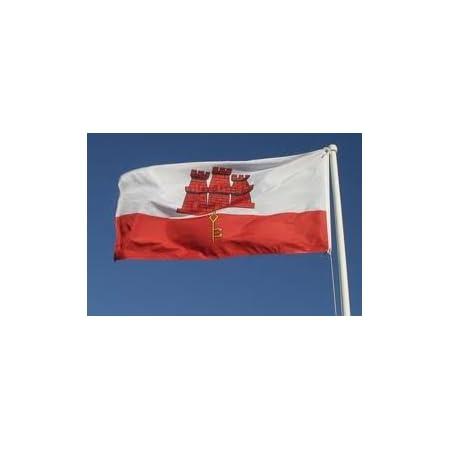 GIBRALTAR NATIONAL FLAG OF GIBRALTAR 5 x 3 ft LARGE QUALITY FLAG POLYESTER NEW
