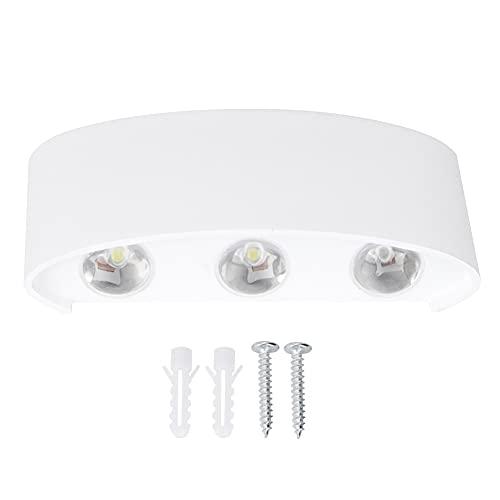 WEILafudong Modern vägglampa utomhus vattentät LED vägglampa enkel design för entré ytterdörr dörr dörr dörr (vit)