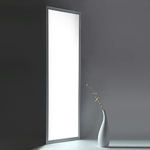 HOMEDEMO LED Panel 120x30cm Ultraslim Deckenleuchte Kaltweiß Weißrahmen Modern Deckenlampe für Industrie, Labors, Verkaufsräume, Küche, Badezimmer, Hobbyräume mit Befestigungsmaterial und Trafo