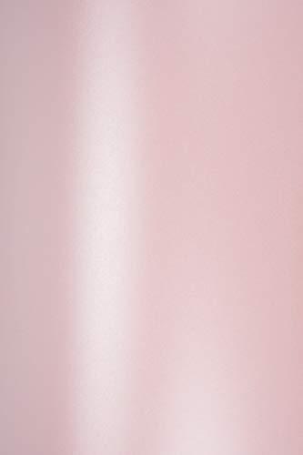 Netuno 10 x Perlmutt-Rosa 120g Papier DIN A4 210x297mm Majestic Petal doppelseitig schimmernd Perlglanz Pearl-Papier metallic glänzend Bastel-Karton für Inkjet und Laser Drucker