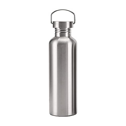 Yidieman Botella de Agua de Acero Inoxidable de una Sola Pared Botellas de 100% a Prueba de Fugas Que Mantiene el frío y el Calor - Frasco Reutilizable sin BPA - 6 Horas de Calor / 12 Horas de frío