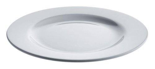 Alessi Ajm28/1 Platebowlcup Assiette Plate en Porcelaine Blanche, Set de 4 Pièces