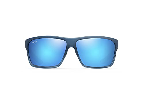 Maui Jim Alenuihaha W/patentado Polarizedplus2 lentes Wrap gafas de sol, azul, L