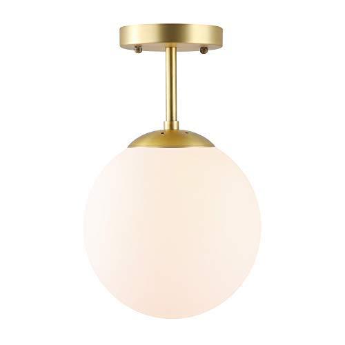 d40ac17db1e1 Light Society Tesler Globe Semi Flush Mount Ceiling Light