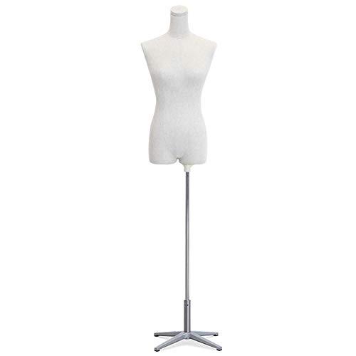 Barture Maniquí De Costura Busto Maniquies Mujer con Cabeza Y Brazos Extraíbles Base De Cuatro Patas 4 Estilos para Exhibir Ropa (Size : A)