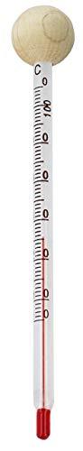 Lantelme Babyflaschenthermometer Glas mit Holzkugel analog Thermometer Lebensmittel und Getränke in Babyflasche 6166