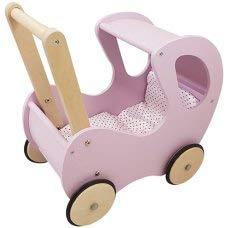 Playwood Poppenwagen Roze klassiek met Kap