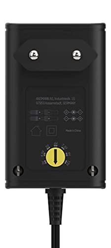 ANSMANN APS 300 Netzteil 12V - Netzstecker bis max. 300mA (mit 7 universal Adapter Stecker) Netzadapter zur Stromversorgung vieler Elektrokleingeräte von 3-12 Volt regelbar