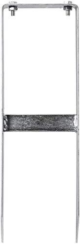 vidaXL 2x Pfostenträger für WPC Zaun mit Schraubensätzen Rostbeständig Pfostenanker Pfostenschuh Bodenanker Balkenschuhe Verzinkt Stahl 40cm