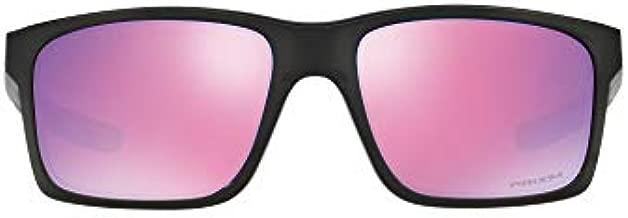 Oakley Men's OO9264 Mainlink Rectangular Sunglasses, Polished Black/Prizm Golf, 57 mm