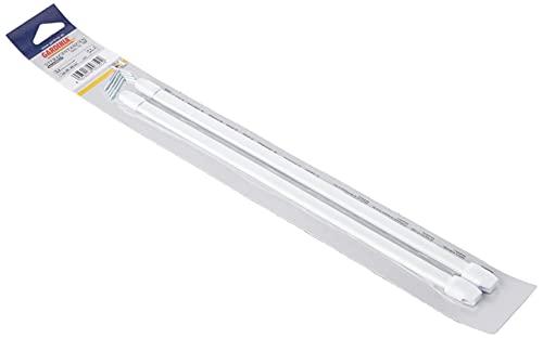 Gardinia Asta vitra, Compresi terminali in plastica e ganci a vite, Estendibile, 30 - 50 cm, Ovale...