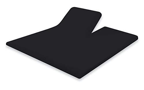 Elegance Splittopper Hoeslaken Perkal Katoen Elegance - zwart 160x200cm