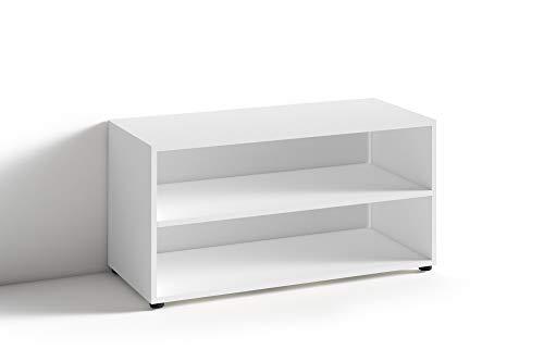 HOMEXPERTS TV Stand VANCOUVER / kleines Regal weiss / Beistelltisch 90 cm breit / Wohnzimmertisch / Schrank / TV Bank / TV Tisch / Weiß / 90 x 45 x 39 cm (BxHxT)