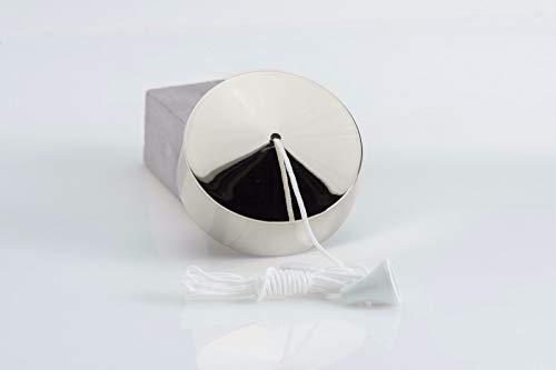 Interruptor con cuerda para lámpara de techo, de cromo pulido