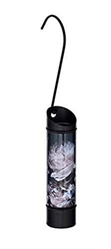 WENKO Humidificador Peony - Humidificador ambiental con motivo, para radiadores, Acero inoxidable, 5 x 20 x 5 cm, Negro