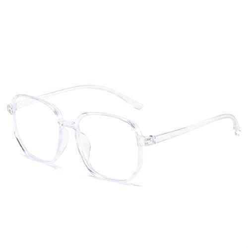 Gafas de lectura antiluz azul para mujer, estilo vintage, para hombre, cristal óptico, marco liso, gafas de juego (color S5, tamaño: +200)