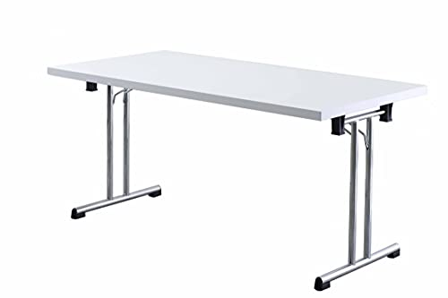 Büro-Klapptisch DR-Büro - Maße 160 x 80 cm - 2 Farbvarianten - Höhe einstellbar 73,5 cm - Gestell Silber - leicht zusammenklappbar -...