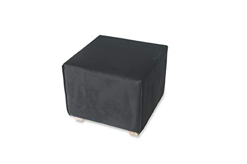 Galileo Casa 2420665 zitzak velours zwart 48 x 48 x 44 cm