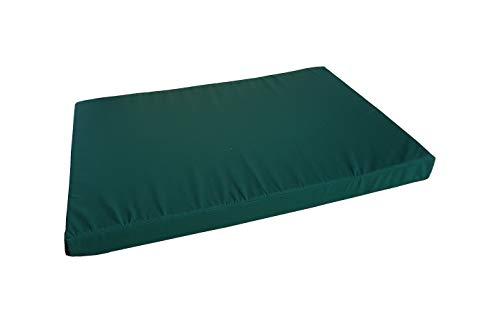 Natalia Spzoo® Coussins Matelas pour Canapé Palette Siège ou Dossier (Assise avec Fermeture éclair, Vert)