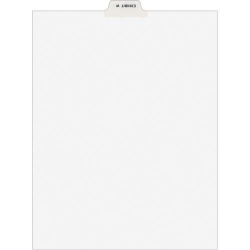 Avery Divider; Exhibit W; Bottom Tab; 8-1/2'x11'; 25/PK; White