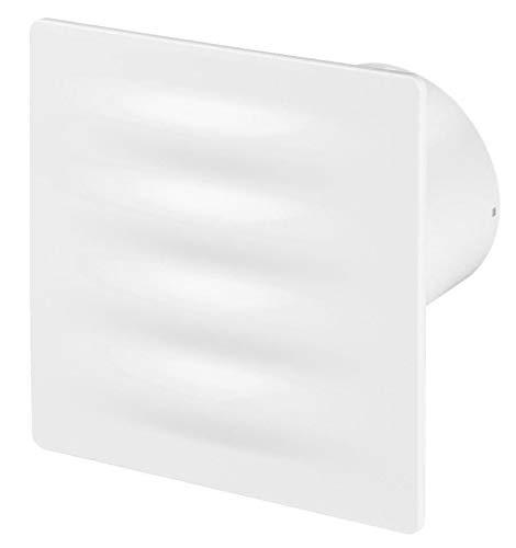 125mm Pull Cord VERTICO afzuigkap Wit ABS Voorpaneel Muur Plafond Ventilatie