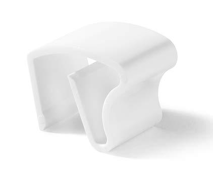 HUGG Klemmhalter (KH.35) für Alu-Jalousien, ideal für Kunststoff-Fenster, Click-Montage, aus Kunststoff, Farbe weiß, Set - 3 Stück