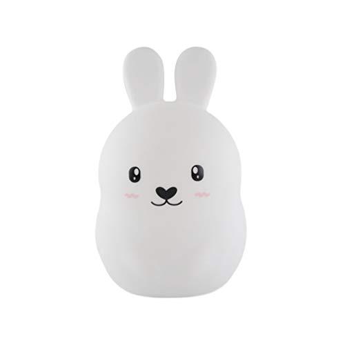 Uonlytech Tier Nachtlichter Led Lampe Licht Kaninchen Form Nachttischlampe Tischlampe Geburtstagsgeschenk für Kleinkind Baby Kinder Erwachsene (Fernbedienung)