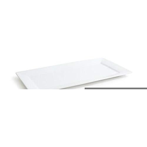 Platos rectangulares, de porcelana, color blanco, 6 tamaños diferentes, porcelana, 36x18cm