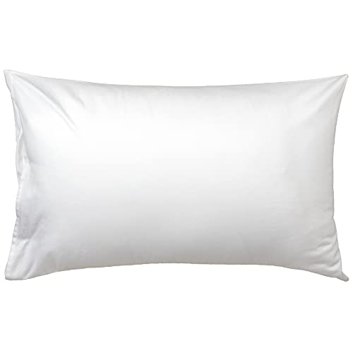 WeeSprout Toddler Pillow - Organic Cotton Shell & Pillowcase, Low Loft for Growing Kids, Soft & Supportive Polyfiber Filling, Machine Washable, 18 x 13 x 3, Solid White